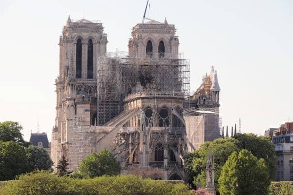 Sécurisation du chantier de la cathédrale Notre-Dame de Paris