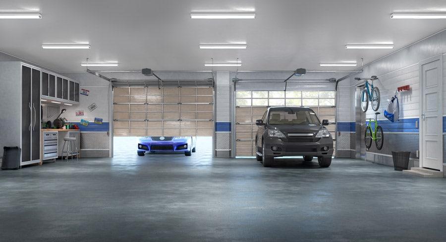 Garage de 55 m2 avec 2 voitures