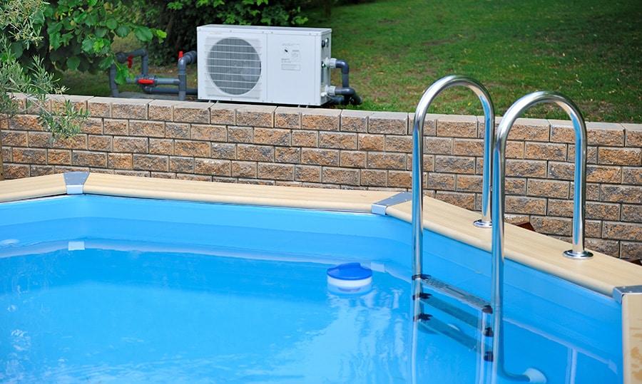 Installation de pompe à chaleur pour piscine