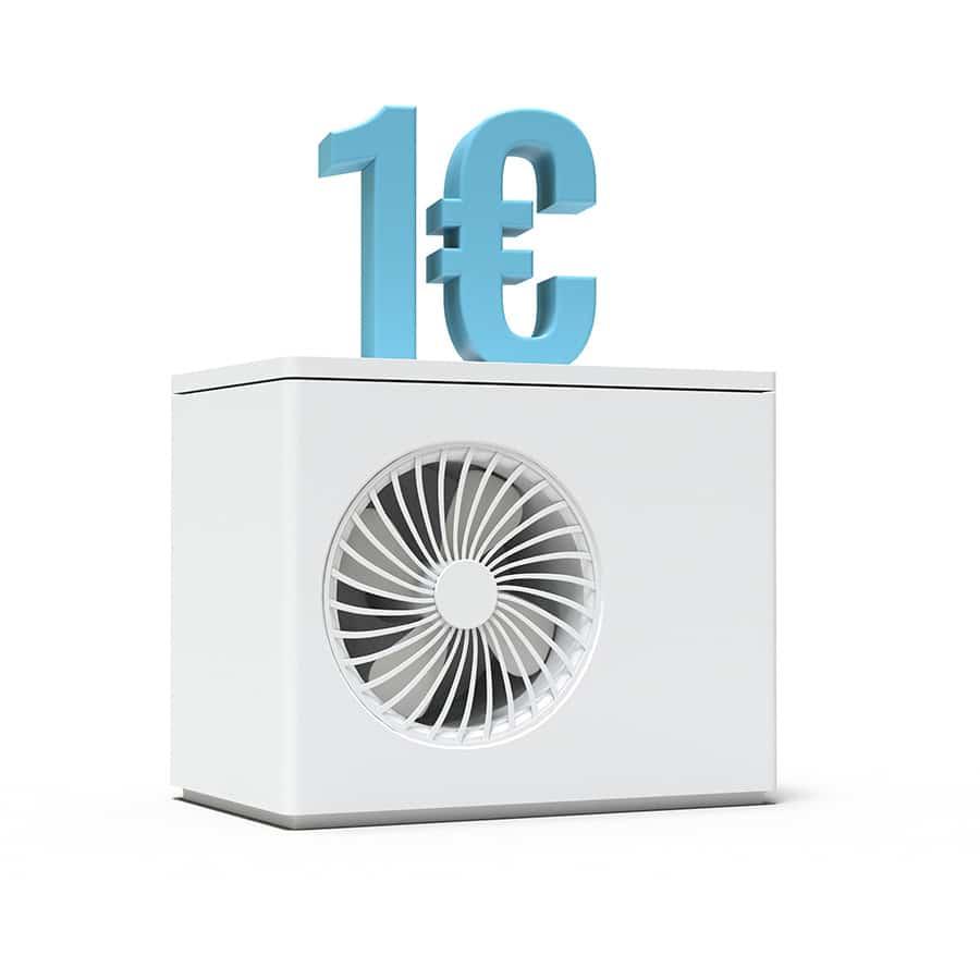 Aide de pompe à chaleur à 1 euro