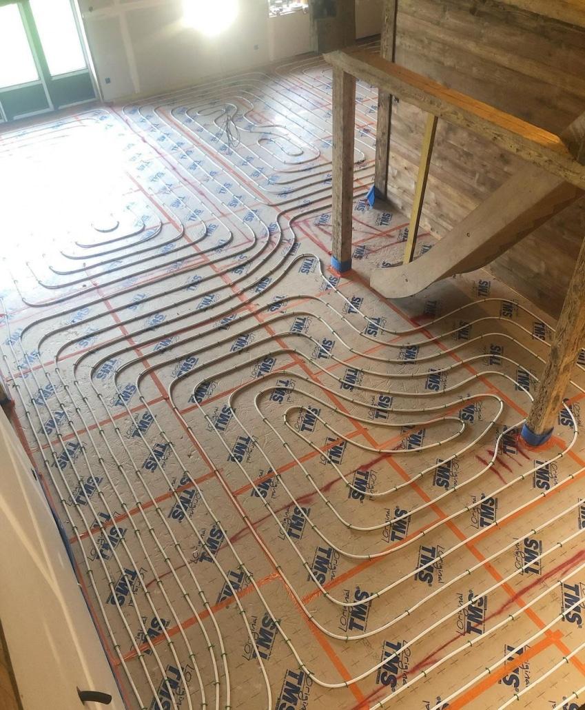 Plancher chauffant hydraulique